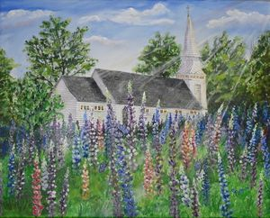 Lupines in Sugar Hill NH