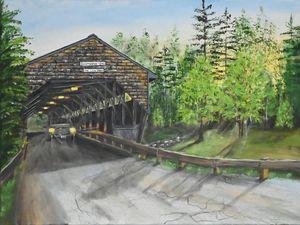 Covered Bridge at Dawn