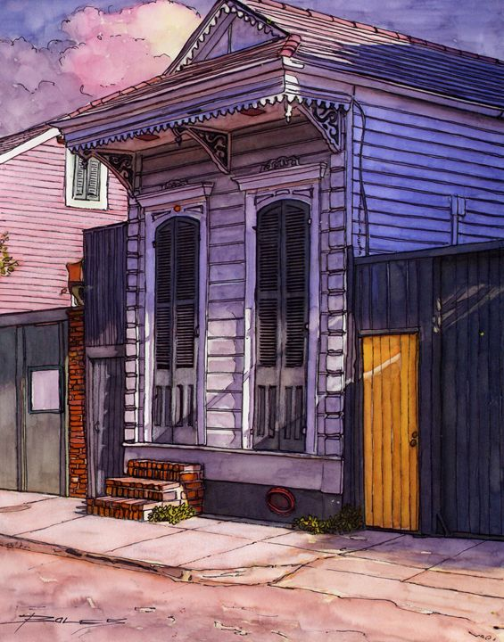 French Quarter Shotgun House - The French Quarter Gallery