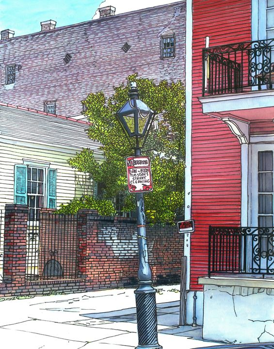 French Quarter Streetlamp - The French Quarter Gallery