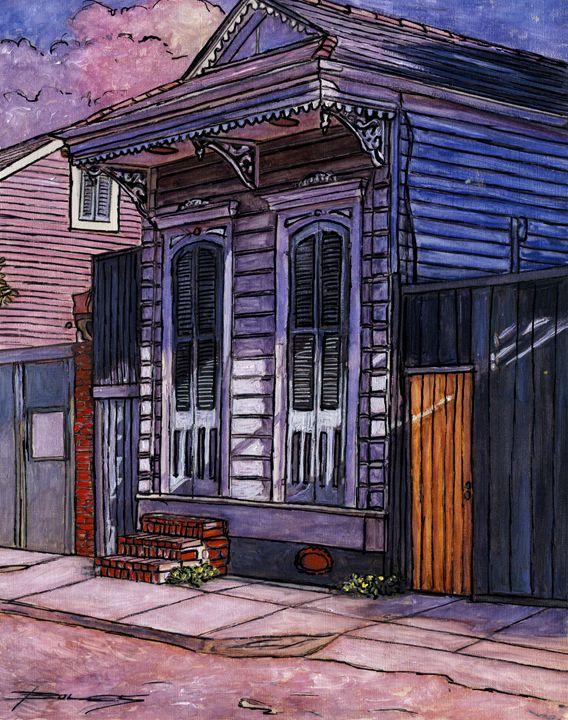 French Quarter Shotgun House - The French Quarter Gallery
