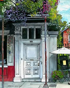 French Quarter Old White Door