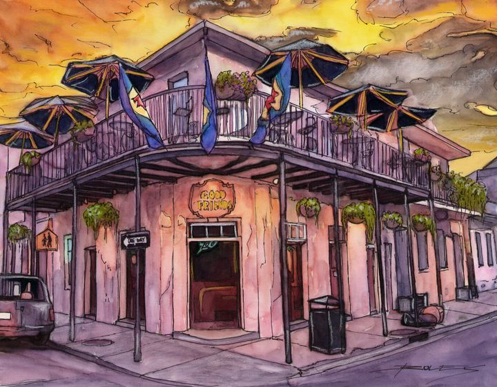Good Friends Bar - The French Quarter Gallery