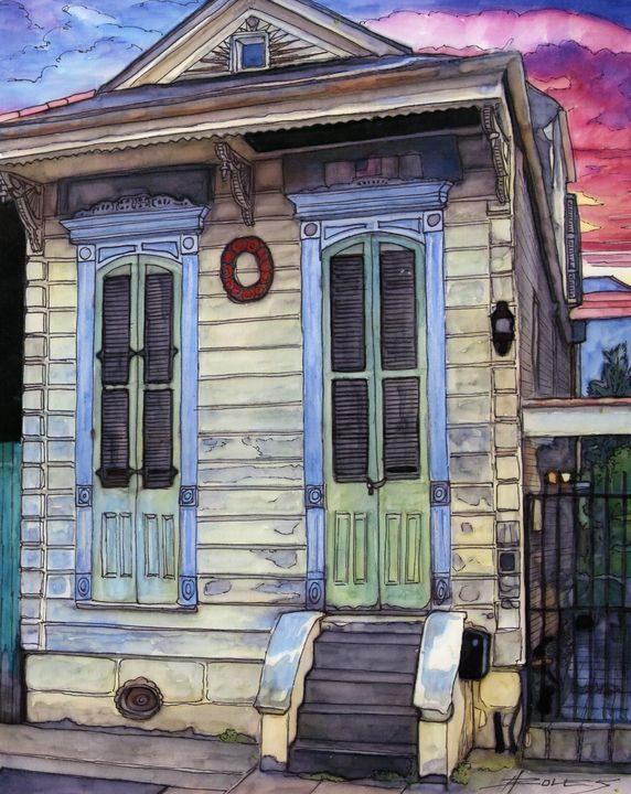 Shotgun House - The French Quarter Gallery