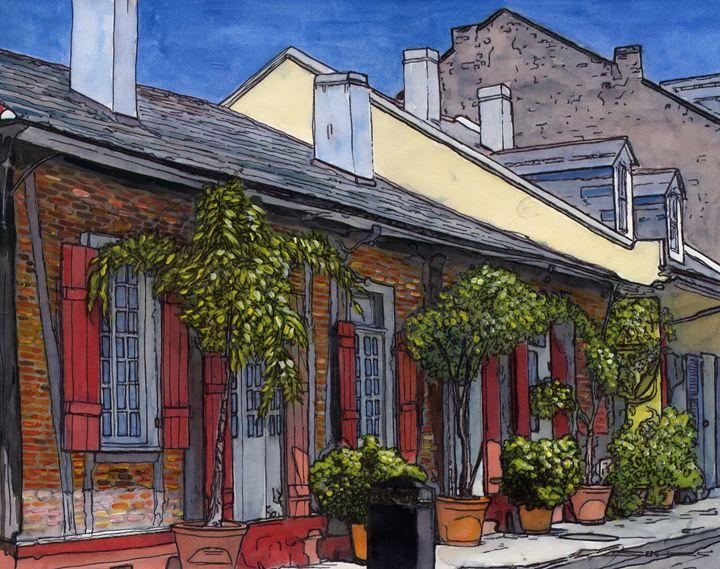 French Quarter Sidewalk - The French Quarter Gallery