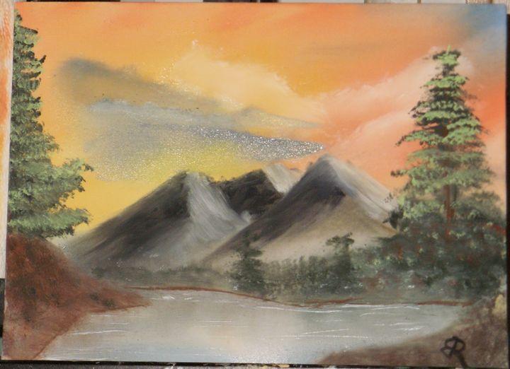 Mountain Lake Tree - Brents Art