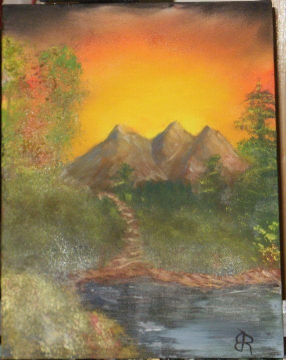 Mountain Sunset - Brents Art