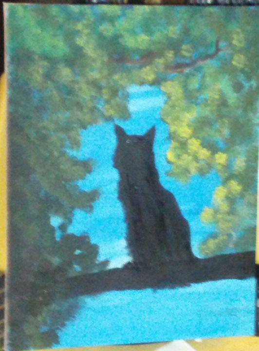 Cat in a tree - Brents Art