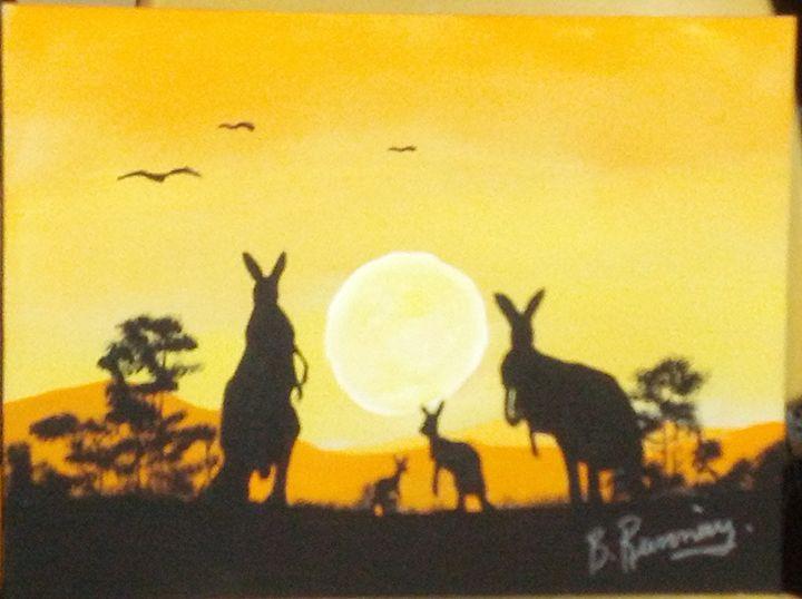 Kangaroo Family - Brents Art