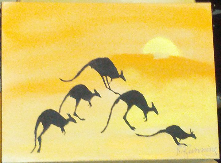 How a kangaroo hops - Brents Art
