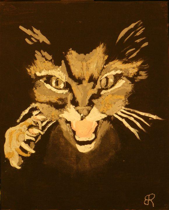 Cat in the Dark - Brents Art
