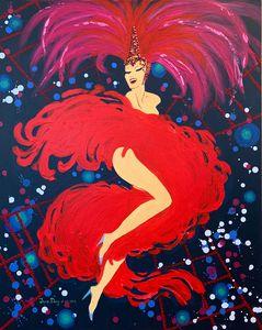 Moulin Rouge dancer