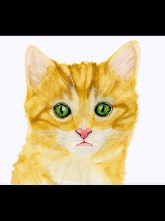 Green eyes - Watercolors by Alie