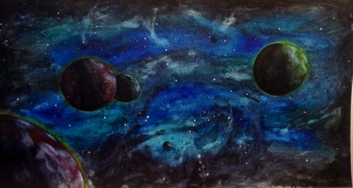 The cosmos - Watercolors by Alie
