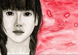 Watercolor portrait print