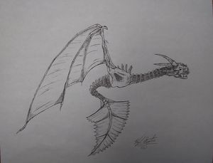 Dragon in flight