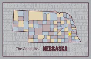 Nebraska County Map - Moore Inspired Design-Brian Moore