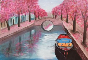 Canal in pink