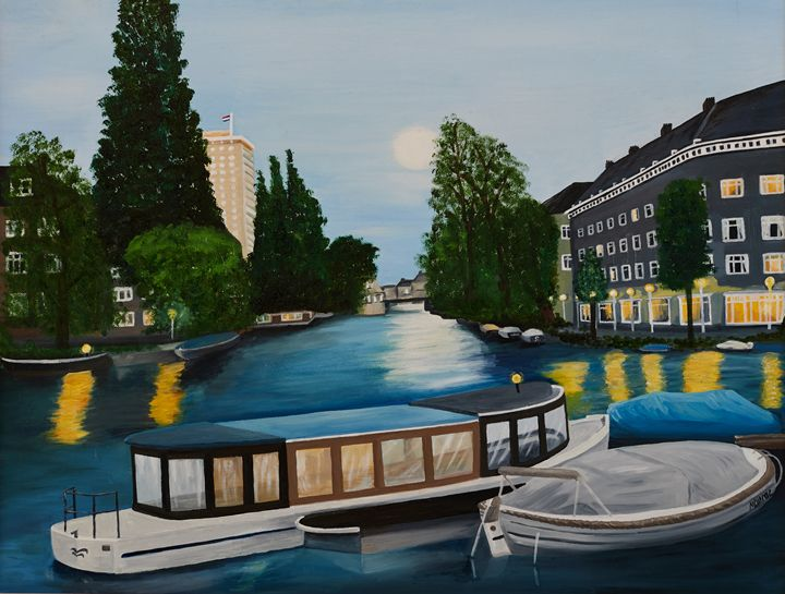 Canal in Amsterdam - Maurae