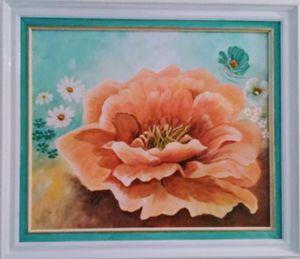 Large orange Cam-ilia - Dawn's Art
