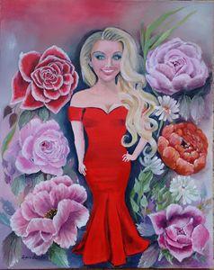 Rose Lady - Dawn's Art