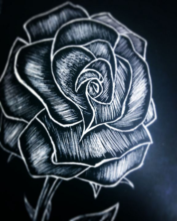 Black Rose - JadedRose Art
