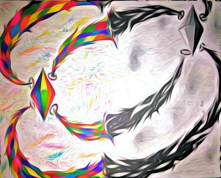 Black and White vs. Color - JadedRose Art