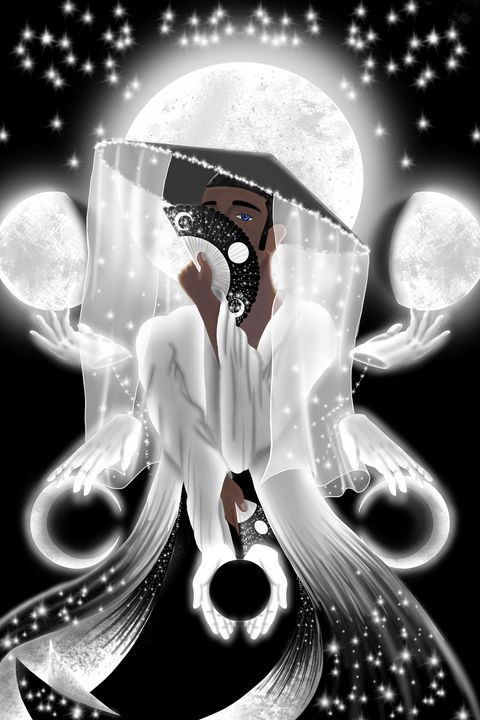 The Moon Anew - JadedRose Art