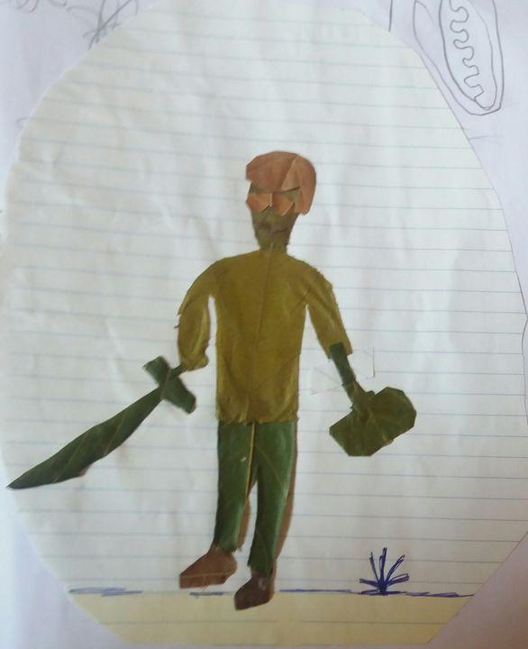Warrior in war - Creative arts