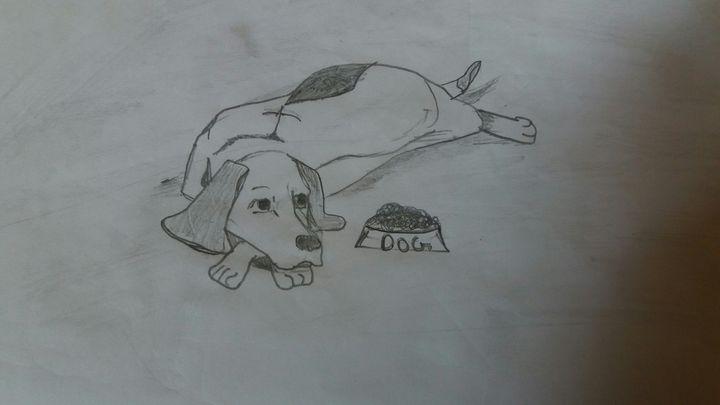 Cute puppy - Creative arts