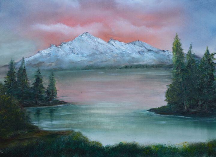 Mountain, lake and sunset - PaulRowe