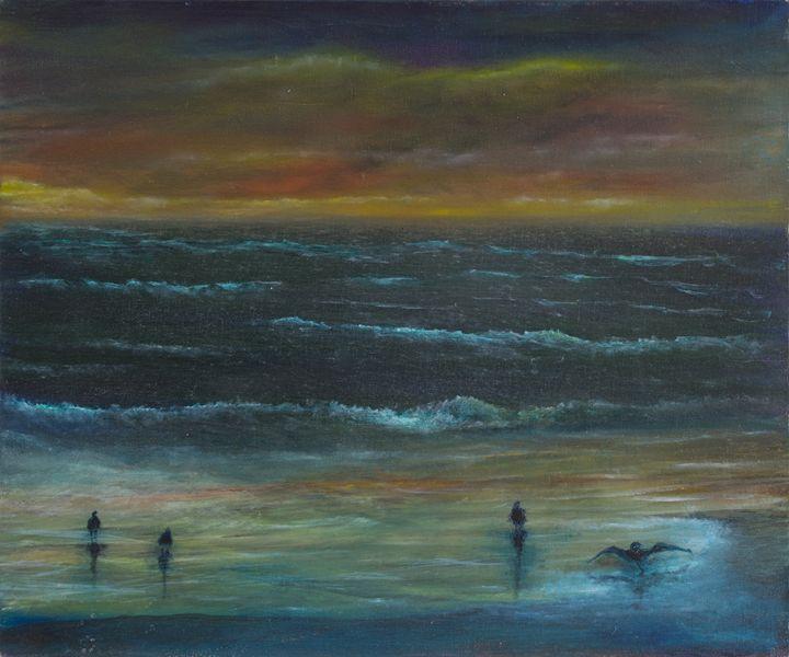 birds sea and sunset - PaulRowe