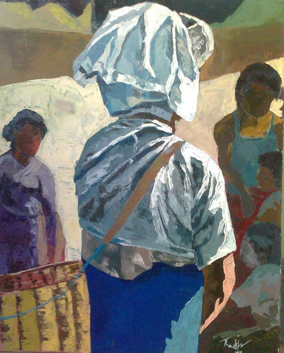 Pa O lady with basket - THANHTIKEARTIST