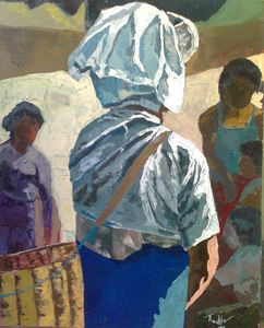 Pa O lady with basket