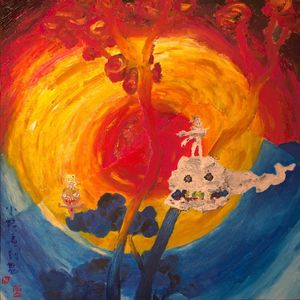 Kids see ghosts alternative painting
