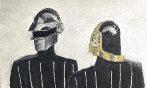 Daft punk oil painting