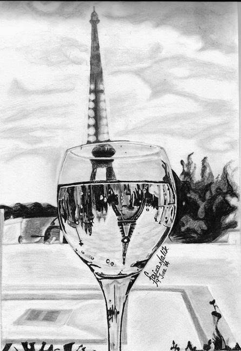 Eiffel tower in a glass - VoidFillz