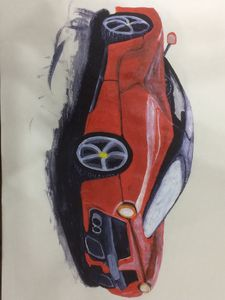 Ferrari in acrylic