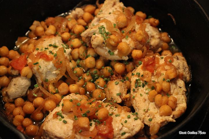 Chicken with Chick Peas - Scott Carlton Photos