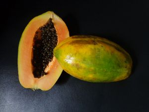 Papaya tropical fruit
