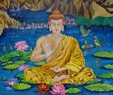 Buddha on the lake