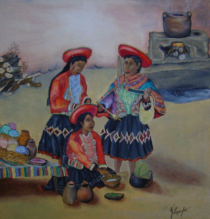 Women of the Cuzco cooking - Jleopold