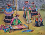 Women knitting of the Cuzco
