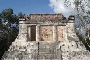 Ancient temple in Chichén-Itzá city