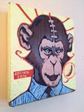 Conscious monkey wants to eat