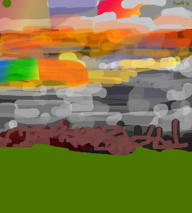 Sunset into the sea - J.R.Picott