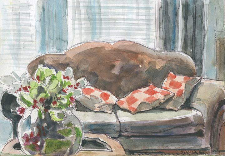 Inviting couch - Erlson's Art