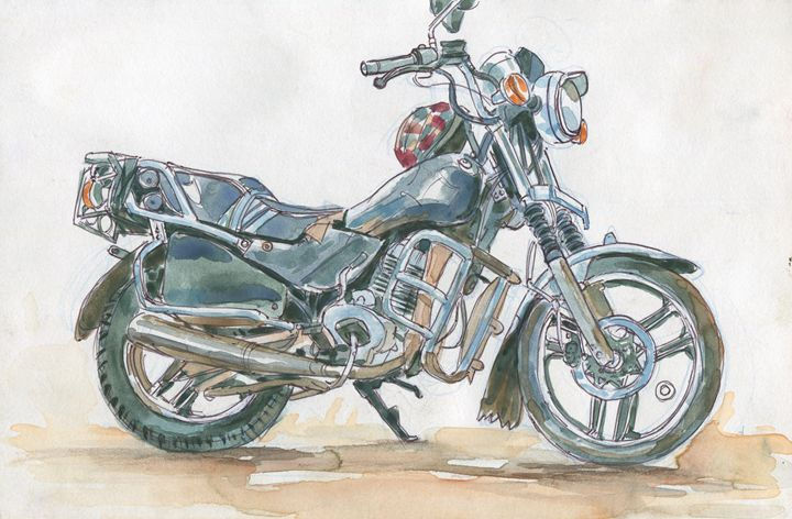 Motorcycle - Erlson's Art