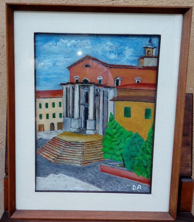 Italian plaza landscape - Giulio's Gallery