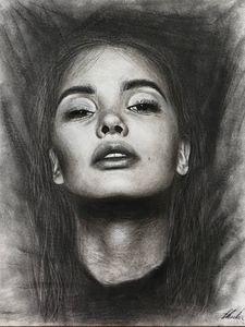 Charcoal Portrait of a Woman